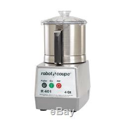 Robot Coupe R401 B Food Processor with 4.5 Quart Stainless Steel Bowl