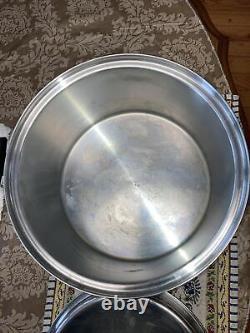 Royal Prestige 12 Quart Stock Pot Dutch Oven 7 Ply Silver Alloy Copper USA