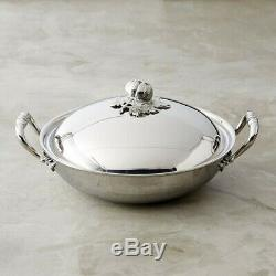 Ruffoni Opus Hammered Stainless Steel Wok with Tomato Finial 4.75 Quart NEW
