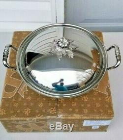 Ruffoni Opus Hammered Stainless Steel Wok with Tomato Finial 4.75 Quart NIB