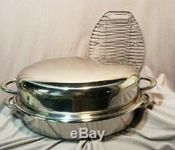 SALADMASTER 10 quart turkey roaster with rack 316T stainless steel with lid