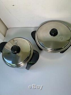 SALADMASTER 316Ti Series 12 Electric Skillet Pan And Slow Cooker 5 Quart mp5