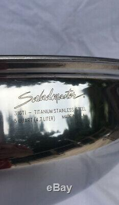 SALADMASTER 5 QUART 13 WOK 316Ti TITANIUM STAINLESS STEEL WATERLESS USA