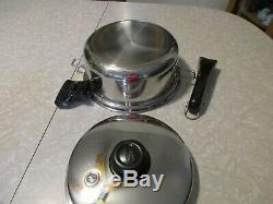 SALADMASTER Stainless Steel Cookware Titanium 4 quart pan