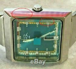 SEIKO Vintage AKA ALBA Square Quarts Watch V733-5A40 Rare Tracking Number