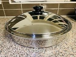 SaladMaster Mega Skillet 6 Quart (5.7 Litre) 15 Inch Frying pan Limited Edition