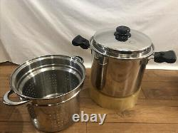 Saladmaster 10 quarts Pot With Steamer Stainless waterless Cookware
