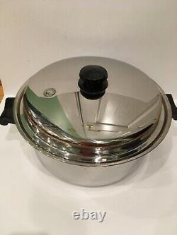 Saladmaster 5 Star USA Stainless Steel 6 Quart Dutch Oven Pot WithLid Made In USA