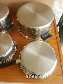 Saladmaster Stainless Steel T304S Cookware Set with 6 quart stock dome lid+++