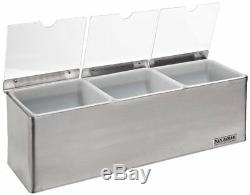 San Jamar B6183INL EZ-Chill Condiment Center S/S (3) Quart Inserts 3 Ice Packs
