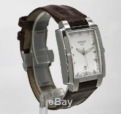 TISSOT T-Trend TXL T061510A Silver Dial Brown Strap Swiss Quart Mens Watch
