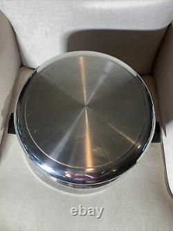 VTG Royal Prestige 12 Quart Stock Pot Dutch Oven 7 Ply Silver Alloy Copper USA
