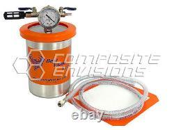 Vacuum Resin Trap Catch Pot Stainless Steel 2 Quart