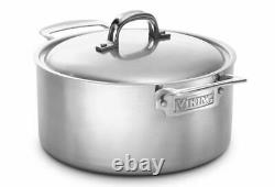 Viking Culinary Professional Series 7-Ply 5 1/2 Quart Stainless Steel Sauce Pot