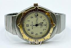 Vintage Breitling 81110 Yachting Swiss Quarts Two Tone With Date Mens Watch
