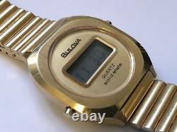 Vintage bulova quarts solid state gold tone watch