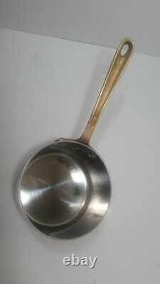 Vtg All-Clad COPR CHEF 2 quart Copper & Brass Sauce Pan NICE Made in USA