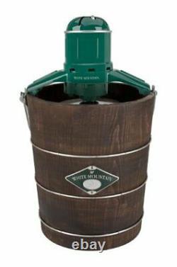 White Mountain Appalachian Series Wooden Bucket 4-Quart Electric Ice Cream Maker
