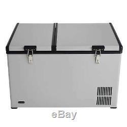 Whynter 90 Quart Dual Zone Portable Fridge/ Freezer with 12v Option and Wheels