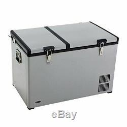 Whynter 90 Quart Dual Zone Portable Fridge/Freezer with Wheels New