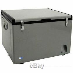 Whynter FM-85G 85 Quart Portable Fridge, AC 110V/ DC 12V True Freezer Gray