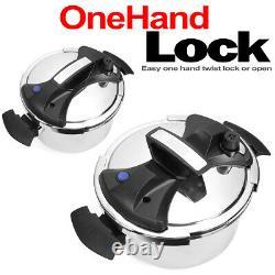 10 Quart Turbo Easy-lock Couvercle Cuisinière De Pression Induction Compatible 10qt
