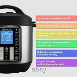 11-en-1 Multi-usage Pot Instantané Noir Inox 6-quart Lent Pression, Cuisinière De Riz