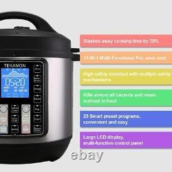 11-en-1 Multi-use Instant Pot Black Stainless 6-quart Slow Pressure, Cuiseur À Riz