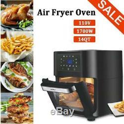 14 Pintes Air Fryer Four 1700w Fryer Air Four Avec Rôtissoire, Déshydrateur Four