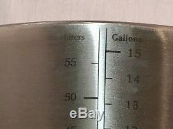 15 Gallons Ss Brew Kettle 304 Marmite À Café En Acier Inoxydable 60 Pintes
