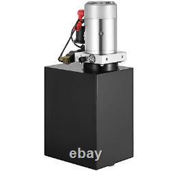 15 Quart Double Action Hydraulique Pompe Remorque De Pompe Lifting 12v Fer