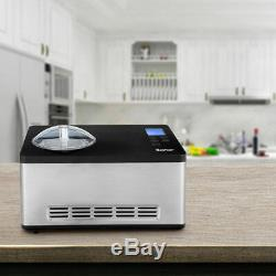 2.1 Pintes Sorbetière Frozen Machine En Acier Inoxydable Avec Écran LCD Contrôle Timer