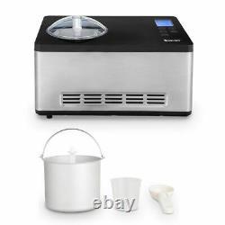 2.1 Quart Machine À Crème Glacée Machine Congelée Acier Inoxydable Avec Contrôle De Minuterie LCD