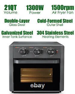 21 Quart Air Fryer Grille-pain Four Convection Rôtissoire Déshydrateur Comptoir