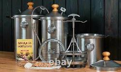 21 Quart Indoor Kitchen Fumer Bbq Acier Inoxydable Pour Tous Les Types De Poêles Hanhi