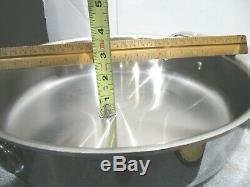 3 Pièces All-clad 8 Qt Stock Pot & 3 Pintes Skillet Couvercle Pour Deux
