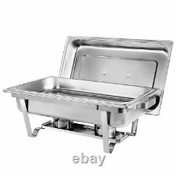 4 Packs Chafing Dish 8 Quart Acier Inoxydable Taille Complete Buffet Chafer Rectangulaire