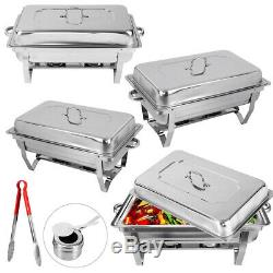 4pack Catering Inox Chafer Chafing Dish Ensembles 8qt Party Pack 9l / 8quart
