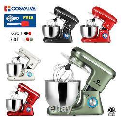 6.2qt 7qt Stand Mixer 6-speed Electric Kitchen Tilt-head Dough Hook Fouet Beater