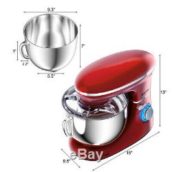 6.3 Maison Pintes Utilisez Tête Inclinable Batteur 6 Vitesses Cuisine Assistant 660w Rouge