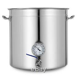 74 Pintes En Acier Inoxydable Marmite Big Cuisine Grande Cuisine Soupe 18,5 Gallon