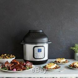 8 Pintes Instantanée Pot Duo Pression Crisp Cuisinière Et 6 Pintes Air Fryer Combo 11 En 1