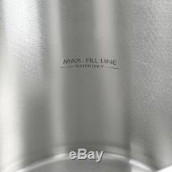 80/100 Stock Qt En Acier Inoxydable Pot Raised Boil Panier Deep Steamer