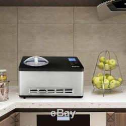 Acier Inoxydable Congelé De Fabricant De Crème Glacée De 2,1 Litres Avec Le Contrôle De Minuterie D'affichage À Cristaux Liquides