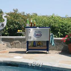 Acier Inoxydable Tommy Bahama De 100 Pintes Avec Refroidisseur De Roulement À Base Revêtue De Poudre