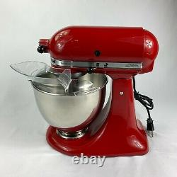 Aide À La Cuisine Artisan Series 5 Quart Tilt-head Stand Mixer Empire Red Ksm150pser