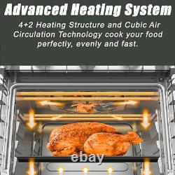 Air Fryer Grille-pain Four 5-in-1 Convection Grille-pain Four 19 Litres Acier Inoxydable