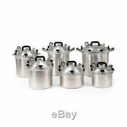 All American 921 Autocuiseur Canner 21 1/2 Pintes Robuste En Fonte D'aluminium Nouveau