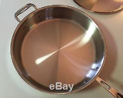 All Clad 6405 All-clad $ 390 Cuve En Acier Inoxydable À Noyau De Cuivre Sauteuse Sauteuse 5 Pintes
