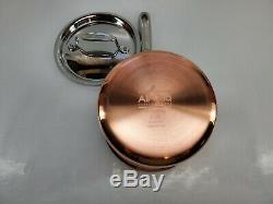 All Clad Plaqué De Cuivre C4 2 Pot Sauce Quart Qt Pan Avec Couvercle Made In America